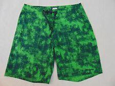 Patagonia Men's Green Swim Trunks Shorts Size 33 Zipper Pockets board Shorts