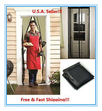 Screen Door Hands-Free Magic Mesh magnets For Pets Insects STOP Bug Mosquito Fly