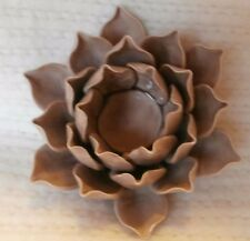 Lovely Lotus Blossom Porcelain Candle Holder