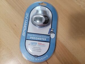Sportline Calorie, Step, Distance Pedometer #345  NEW SEALED NEWFree Shipping!