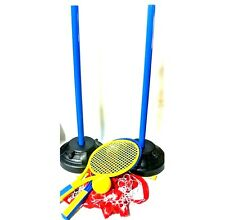 Outdoor Indoor Junior Kids Tennis Set Childrens Toy Ball Net Racquets