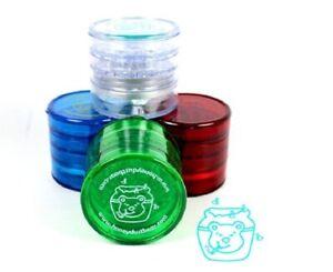 Honey Dust Bear Grinder Acrylic 4 Part Herb Grinder Crusher 62mm Assorted Colour