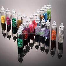 20 Mini Bottles Beads Caviar Sequins Balls Glitter Glass DIY Decoration Nail Art