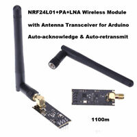 1100m 2.4GHz NRF24L01+PA+LNA Wireless Transceiver Module w/ Antenna for Arduino
