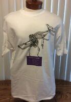 Bureaucrasaurus VTG Graphic T Shirt White Single Stitch Dinosaur Hanes XL Cotton