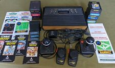 Atari 2600 VCS Console CX-2600A Woody, Joysticks, Paddles, 15 Games, Working!!