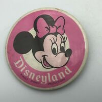 "Vtg Minnie Mouse Disneyland Walt Disney Productions 3-1/2"" Button Pinback  Y4"