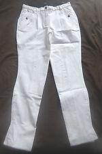 Damen Reithose,Kniebesatz, weiß, Gr. 40, schmaler Bund (4298)
