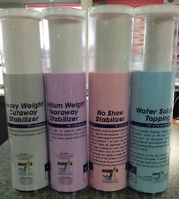 Stabilizer Combo- Tearaway, Cutaway, No Show, & Water Soluble!