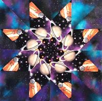 Planets and Galaxies Kaleidoscope 12 Quilt Block Kit 100% Cotton Shop Quality