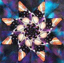 New listing Planets and Galaxies Kaleidoscope 12 Quilt Block Kit 100% Cotton Shop Quality