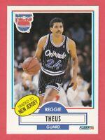 1990 Fleer Basketball #136 Reggie Theus -- Nets -- Box 737