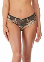Wacoal Embrace Lace WA848191 Tanga Brief Ebony/Shifting Sand 076 M CS