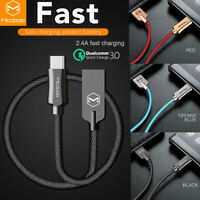 Mcdodo USB-C Type-C QC 3.1 Quick Charger Fast Charging Data Sync Cable Cord LOT