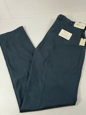 Peter Millar Men Pants Soft Touch Twill Stretch Pima Cotton Trousers 34x35 Blue