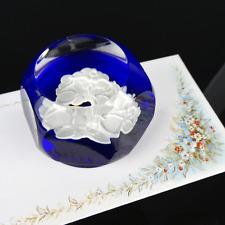 Baccarat Kristall Briefbeschwerer Cut Crystal Paperweight France 20th century