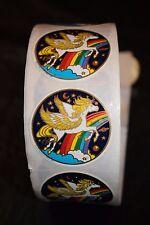 Vintage Pegasus Roll Sticker Decal Planets Rainbow Illuminations 485 1981 Lot