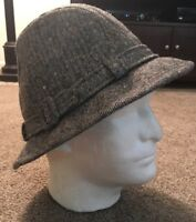Dobbs Fifth Avenue Gray Fedora Hat, Size 7 1/8