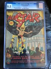 ALL STAR COMICS #10 CGC FN+ 6.5; OW; Bernard Baily art (4-5/42)! scarce!