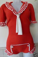 Agent Provocateur sailor playsuit cashmere silk knit romper MARINE body