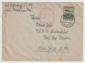 D2700 : 1936 Allemagne Vols Effectué Hindenburg Zeppelin Carte
