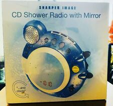 Sharper Image Gt909 Cd Shower Radio With Mirror and Clock New And Sealed