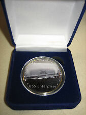 US NAVY - USS Enterprise (CV-6) Challenge Coin w/ Presentation Box