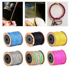 100M Shamballa Makramee NylonSchnur Faden Halskette Seil Geflochten kordel 0.8mm