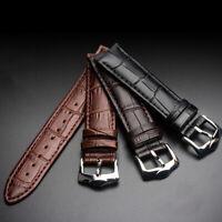 Universal Vintage Genuine Leather Wrist Watch Band Strap 12/14/16/18/20/22/24 mm