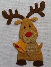 4 x Rudolph Reindeer ..ASSEMBLED..  Christmas..  Die-Cuts