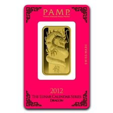1 oz Gold Bar - PAMP Suisse Year of the Dragon (In Assay) - SKU #69642