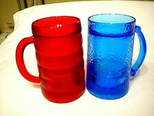 """Pair of Frosty Freezable 6""""High Beer/Soda Mugs-Double Walled-Holds 2 Cups"""