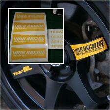 JDM Stickers Wheels Racing Decals Yellow 17-20 inch Rims Rays Volk TE37 SL #8pcs