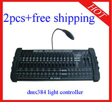 2pcs DMX384 Light Controller Stage Light With DMX Console Dimmer Free Shipping