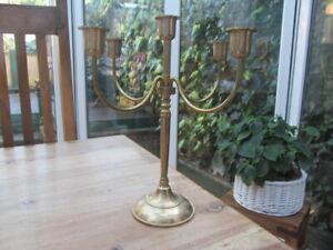 Vintage Candle Holder, Candelabra, Brass Candlestick 5 branched, Art Deco Style