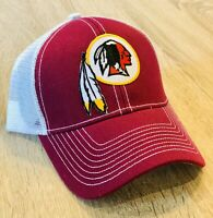 WASHINGTON REDSKINS Cap Trucker Hat Patch Style Mesh Adjustable Retired Logo NEW
