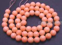 "4-14mm AAA Round Pink Natural Coral Beads for Jewelry Making DIY Strand 15"" l380"