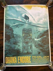 Pearl Jam Ohana Encore 2021 - Ian Williams AP S/N xx/100 - Goldenrod Variant