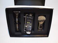 Edwin Jagger Classic Handmade Shaving Kit Gillette razor brush brown horn chrome