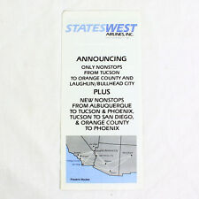 Statewest Airlines - August 17 1987 - Airline Timetable