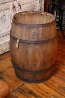 Antique Wooden Whiskey Barrel Keg Dairy Milk Vintage Cabin Lodge Decor Original