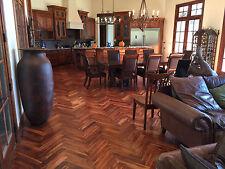 "Herringbone Acacia Golden Sage Brush 3/4"" x 3"" x 17.7""  Hardwood Flooring Sample"
