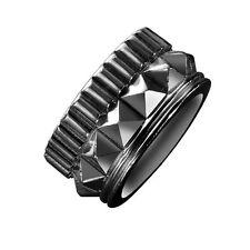WATERFORD REBEL GRACIE DESIGNER GUNMETAL BAND RING SMALL L / 5.5 BOXED PUNK