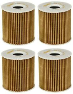 Set of 4 Volvo XC90 Mahle Engine Oil Filters OX149DECO 1275810