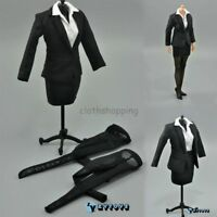 """ZY Toys 1/6 Scale Black Women Business Skirt Suit Set For 12"""" Body Action Figure"""