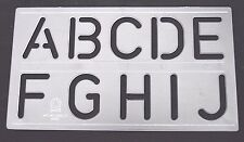 50mm Clear Stencils Letters Numbers ALPHABET STENCIL FULL SET Sign Writing