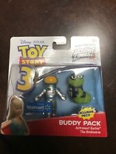 Disney Pixar Toy Story Action Links Buddy ASTRONAUT BARBIE & BOOKWORK New NIB!!