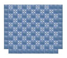 Rare American Arts & Crafts Blue Tile Wall
