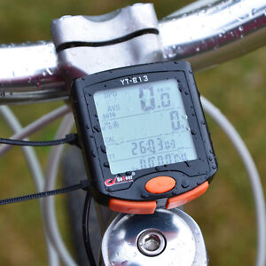 Wired Bicycle Bike 24 functions LCD Computer Odometer Speedometer Back light UK
