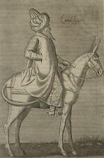 Cadilesquer Cavalier Ottoman Turquie Chalcondyle Nicolas Nicolay Gravure 17e